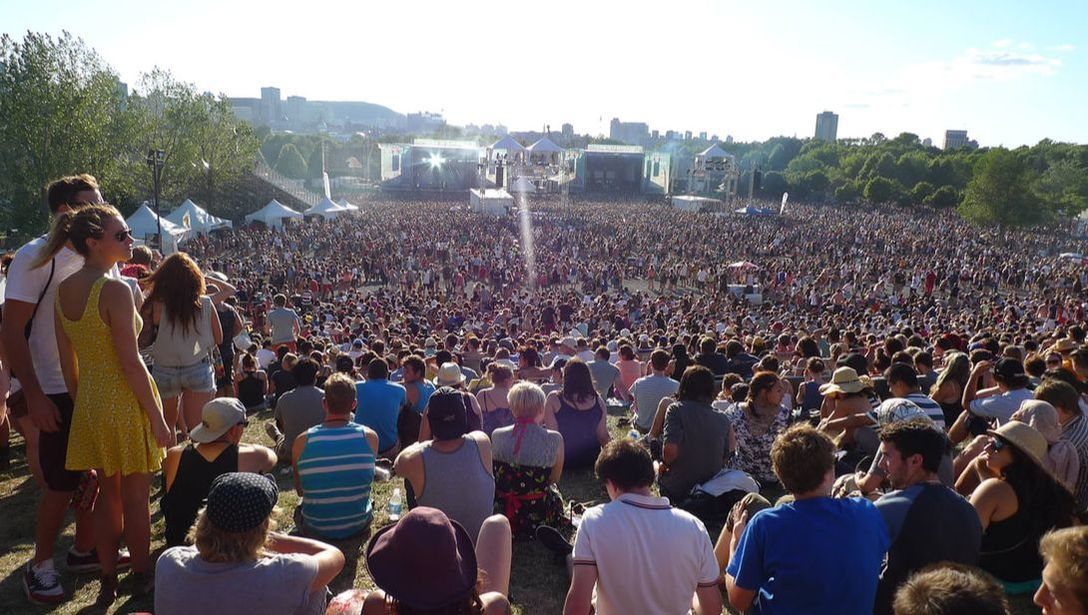 Crowds at Osheaga Music Festival